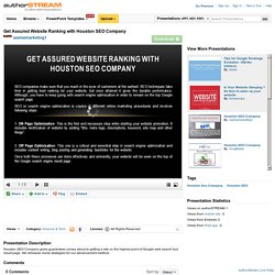 Get Assured Website Ranking With Houston SEO Company