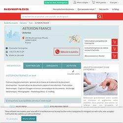 Asterion France - Caen 14000 (Calvados), 104 Boulevard Jean Moulin...