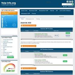 Asterisk AGI - voip-info.org