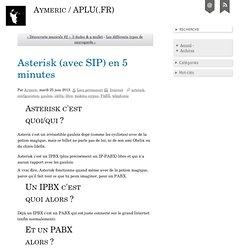 Asterisk avec SIP