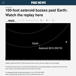 100-foot asteroid buzzes past Earth: Watch the replay here