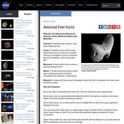 Asteroid Fast Facts