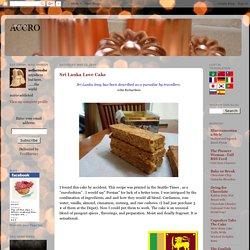 astheroshe's: Sri Lanka Love Cake