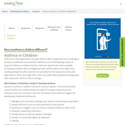 Asthma In Children : How is it different? and How to manage it