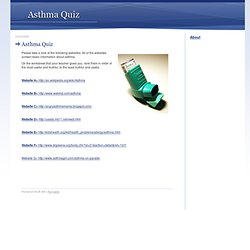 Asthma Quiz