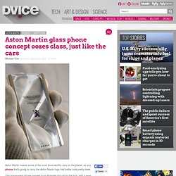 Aston Martin glass phone concept oozes class, just like the cars