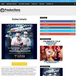 Fusion Astoria Lounge - Fusion Lounge Guest list and Bottle Service Available