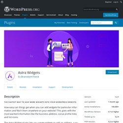 Astra Widgets – WordPress plugin