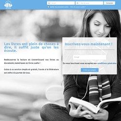Astread, convertisseur de livre EPUB, PDF, DOCX, ... en livre audio !