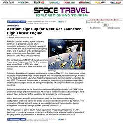 Astrium signs up for Next Gen Launcher High Thrust Engine