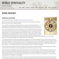 Astro-Theology - World Spirituality