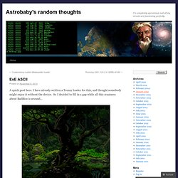Astrobaby's random thoughts