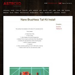 Astroid Designs — Nano Brushless Tail Kit Install