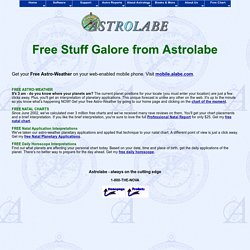 ASTROLABE: Free Horoscopes!