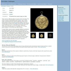 Astrolabe report (inventory number 35146)