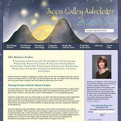 Astrologer Celeste Teal tells how lunar node transits coincide with life events