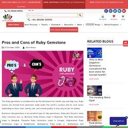 Who Should wear Ruby Gemstone? - Astrological Benefits of Wearing Original Ruby