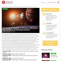 Astrological Transits In January 2021: Know The Timeline of Planetary Events
