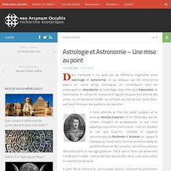 Astrologie et Astronomie – Une mise au point