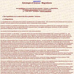 Astrologie et Science - Magnétisme