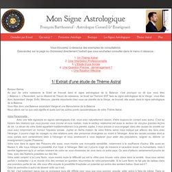 Redécouvrez vos Signes Astrologiques et votre potentiel - Exemples de consultations