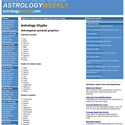 Astrology glyphs: Astrological symbols - Planetary symbols