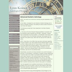 Advanced Esoteric Astrology : Lynn Koiner - Astrological Research