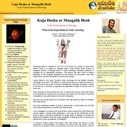 Astrology - Kuja Dosha or Mangalik Dosh in Vedic astrology