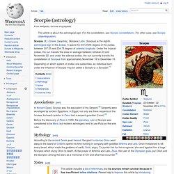 Scorpio (astrology)