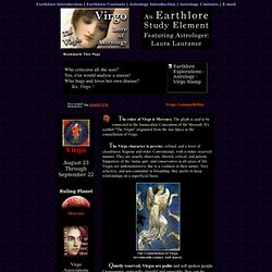 Virgo Astrology - Earthlore Explorations - Lore of Astrology - Sun Sign Study Element