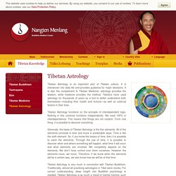 Tibetan Astrology - Nangten Menlang International