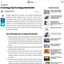 9 Astrology Tips For Happy Married Life
