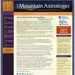 Current (and Useful) Astrology Blogs | The Mountain Astrologer