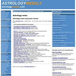 Astrology news and press reviews