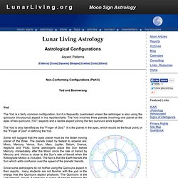 Lunar Living Astrology Aspect Patterns Yods and Boomerangs<
