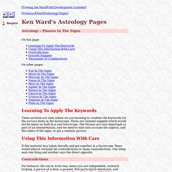 Astrology Astrology - Planets In The Signs