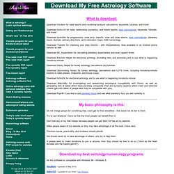Free Astrology Programs by Allen Edwall - Download My Free Astrology Software