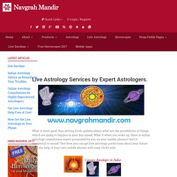 Live Astrology Service at Navgrah Mandir