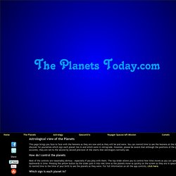 Astrology :: The Planets Today