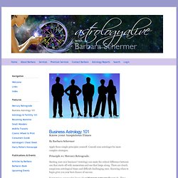 Business Astrology 101