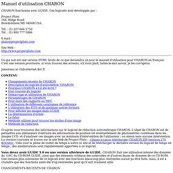 Software d'astrométrie CHARON : Manuel d'utilisation