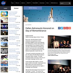 Fallen Astronauts Honored on Day of Remembrance