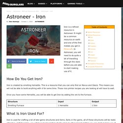 Astroneer - Iron - Refined Resource - ASTRONEER Game Guides
