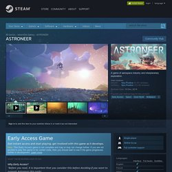 ASTRONEER sur Steam
