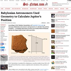 Babylonian Astronomers Used Geometry to Calculate Jupiter's Position