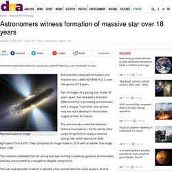 Astronomers witness formation of massive star over 18 years