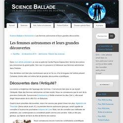 Les femmes astronomes et leurs grandes découvertes - Science Ballade