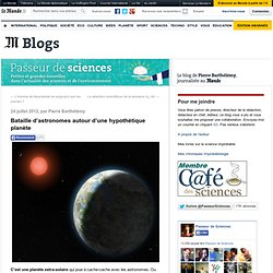 Bataille d'astronomes autour d'une hypothétique planète