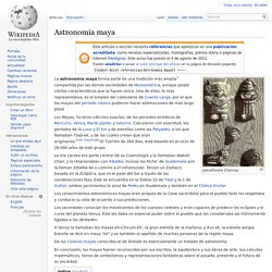 Astronomía maya - Wikipedia, la enciclopedia libre