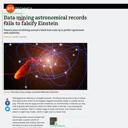 Data mining astronomical records fails to falsify Einstein